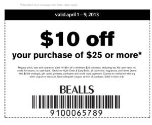 Bealls expires 4-9
