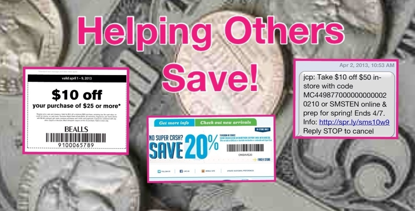 Bealls coupons by text